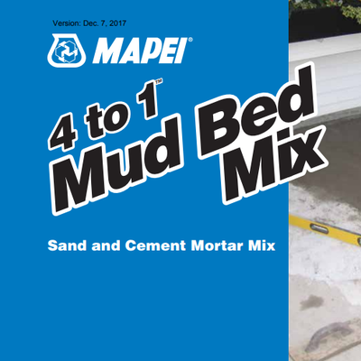 4 to 1 Mud bed