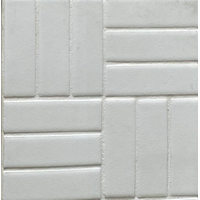 Tile Luxe - Luxe Lattice Weave 1x3 Arctic White Matte