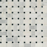 Tile Luxe Arabescato Carrara Basketweave
